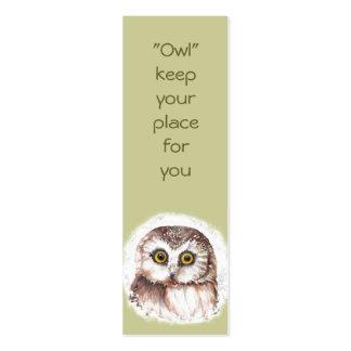 Funny Owl, Birds Custom, Animal  BookMark Pack Of Skinny Business Cards