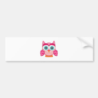 Funny Owl Bumper Sticker