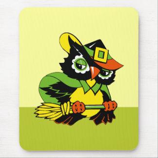 Funny Owl. Halloween Gift Mousepad