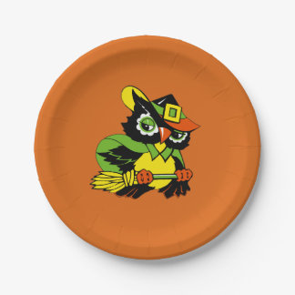 Funny Owl Halloween Party Paper Plates