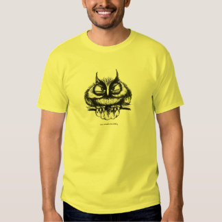 Funny owl pen ink drawing art t-shirt