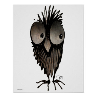 Funny Owl Poster