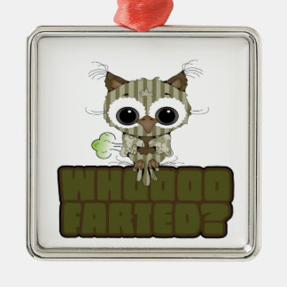 Funny Owl  Whooo Hoot Farted Ornaments