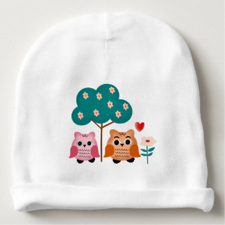 funny owls baby beanie
