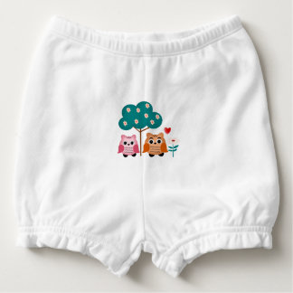 funny owls nappy cover