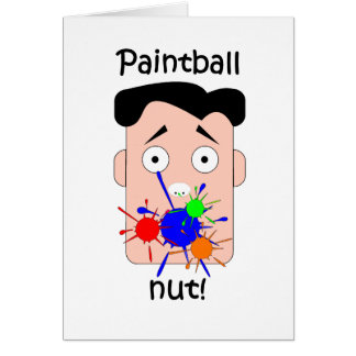 Funny paintball greeting card