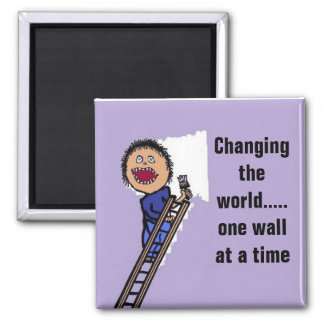 Funny Painter Gift Square Magnet