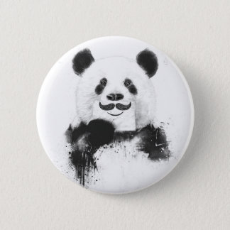 Funny panda 6 cm round badge
