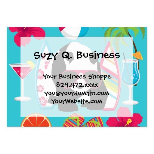 Funny Panda Bear Beach Bum Cool Sunglasses Surfing Business Card Templates