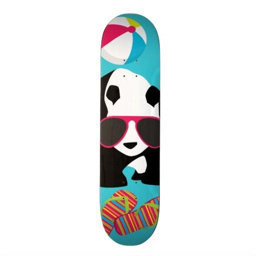Funny Panda Bear Beach Bum Cool Sunglasses Surfing Skateboard Deck
