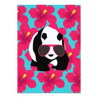 Funny Panda Bear Beach Bum Cool Sunglasses Tropics 13 Cm X 18 Cm Invitation Card