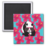 Funny Panda Bear Beach Bum Cool Sunglasses Tropics Refrigerator Magnet