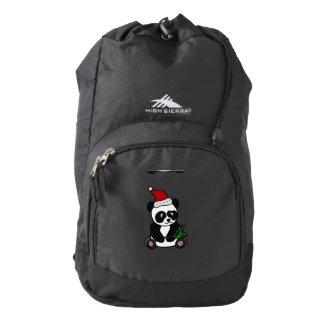 Funny Panda Bear Christmas Art Backpack