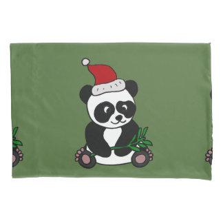 Funny Panda Bear Christmas Art Pillowcase