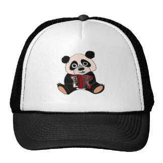 Funny Panda Bear Playing Accordion Cap