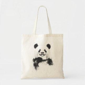 Funny panda budget tote bag