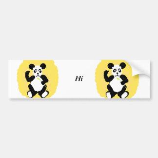 Funny Panda Bumper Sticker