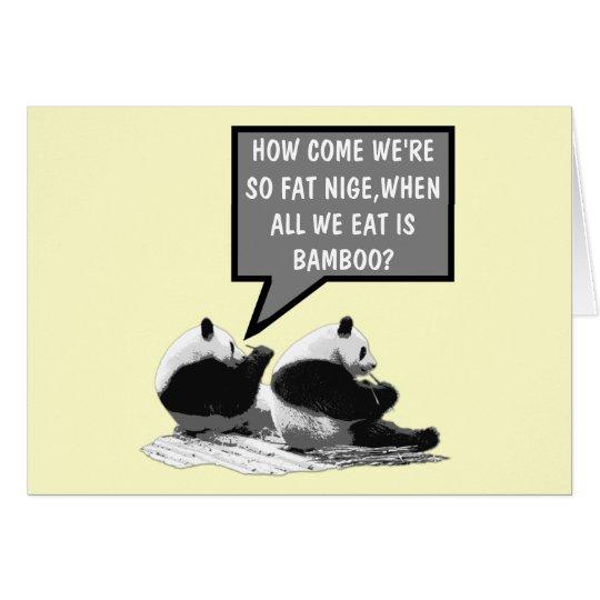 Funny Panda Card