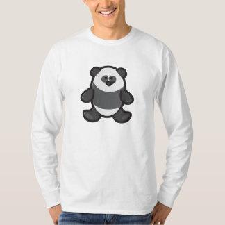 Funny Panda on White T-Shirt