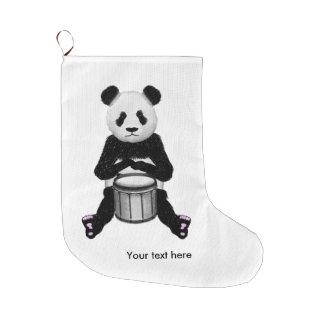 Funny Panda Playing Drums