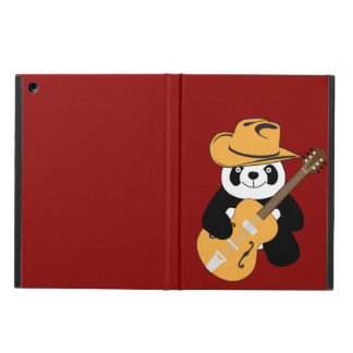 Funny panda with guitar cover for iPad air