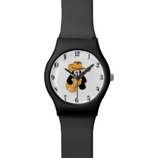 Funny panda with guitar watch