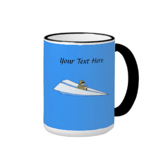Funny Paper Airplane Pilot Ringer Mug