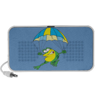 funny parachuting froggy frog cartoon laptop speaker