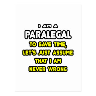 Funny Paralegal T-Shirts and Gifts Postcard