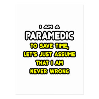 Funny Paramedic T-Shirts and Gifts Postcard