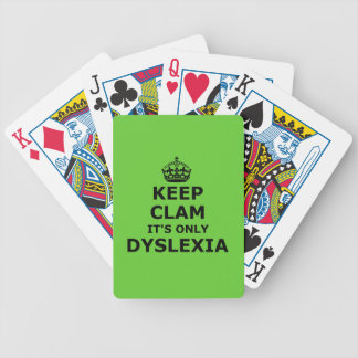 Funny parody keep calm and carry on bicycle playing cards
