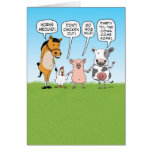 Funny Party Animals Advice for Anniversary Greeting Card