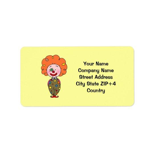 Funny party clown return address address label