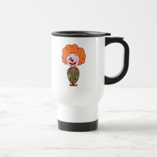 Funny party clown with orange hair mugs