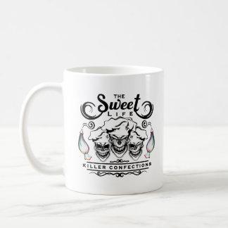 Funny Pastry Chef Skulls: The Sweet Life Basic White Mug