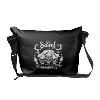 Funny Pastry Chef Skulls: The Sweet Life Commuter Bags