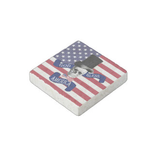 Funny patriotic American Stone Magnet