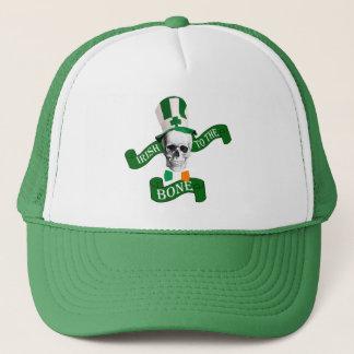 Funny patriotic skeleton St Patrick's day Trucker Hat
