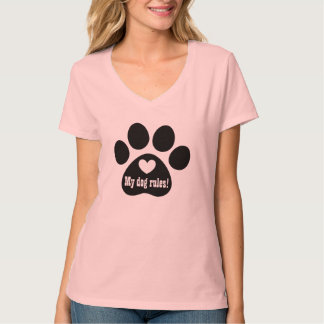 Funny Paw Print Dog Lover Gift Custom 3 T Shirt