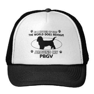 Funny PBGV designs Cap