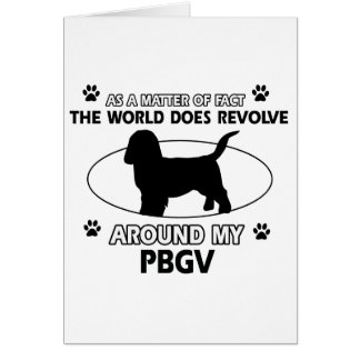 Funny PBGV designs Card