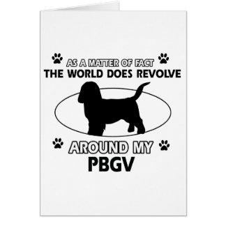 Funny PBGV designs Card