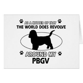 Funny PBGV designs Greeting Card