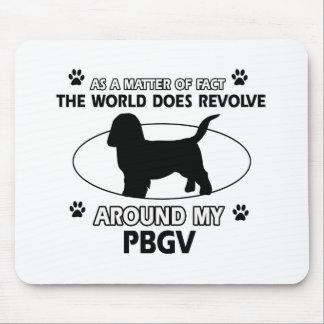 Funny PBGV designs Mouse Pad