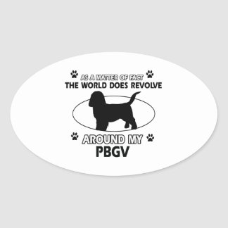 Funny PBGV designs Oval Sticker