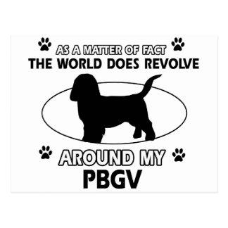 Funny PBGV designs Postcard