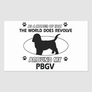 Funny PBGV designs Rectangular Sticker