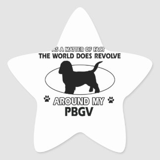Funny PBGV designs Star Sticker
