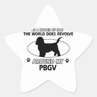 Funny PBGV designs Star Sticker