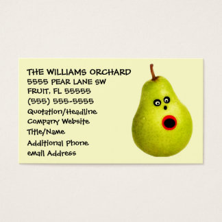 Funny Pear Grower Advertising Business Card